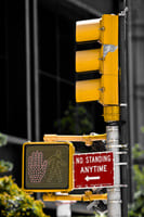 Traffic lights in New York