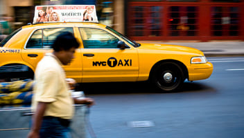 The classic yellow NYC cab