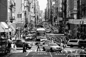 Busy street of New York